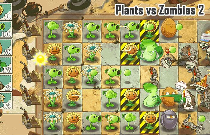 game zombie offline hay cho ios: Plants vs Zombies 2