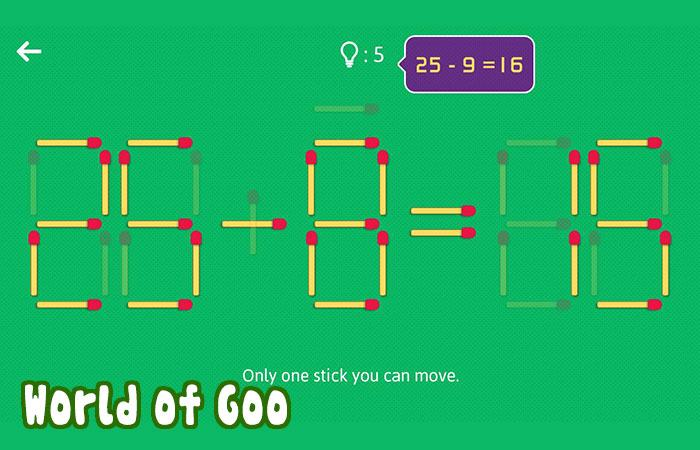 Game trí tuệ cho bé 3 tuổi Puzzles with Matches