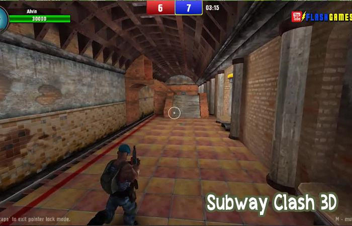 Game y8 bắn nhau 3D: Subway Clash 3D