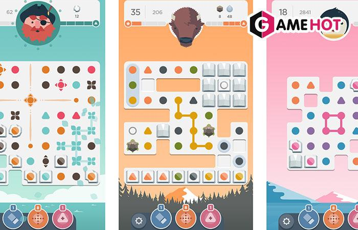 Game offline android thú vị Dots
